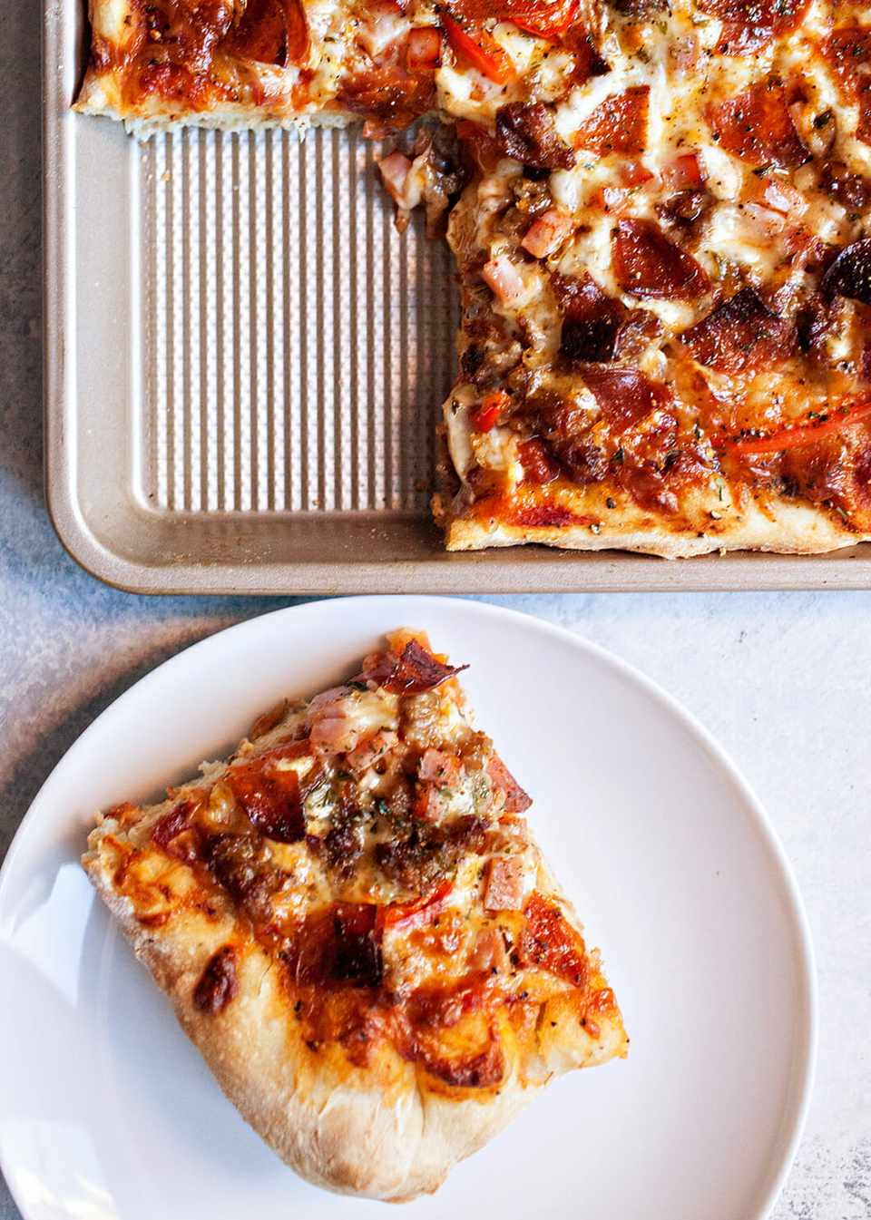 Sheet Pan Pizza with Sausage