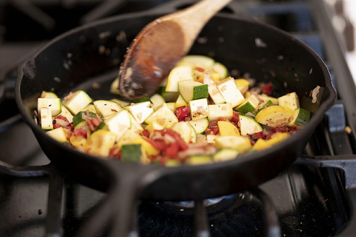 Summer squash lasagna recipe add the zucchini