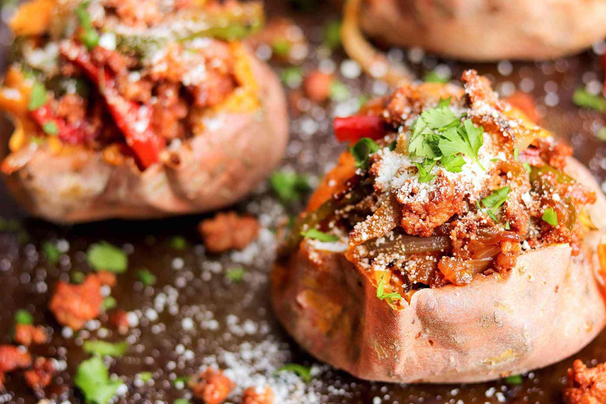 Roasted Sweet Potato Recipe stuff the potatoes