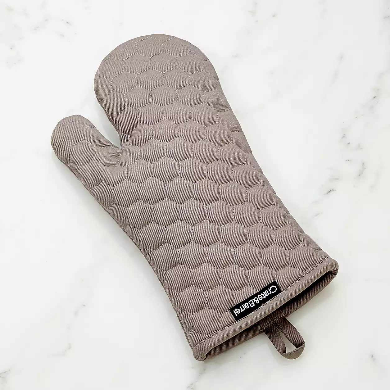 Grey Quilted Oven Mitt