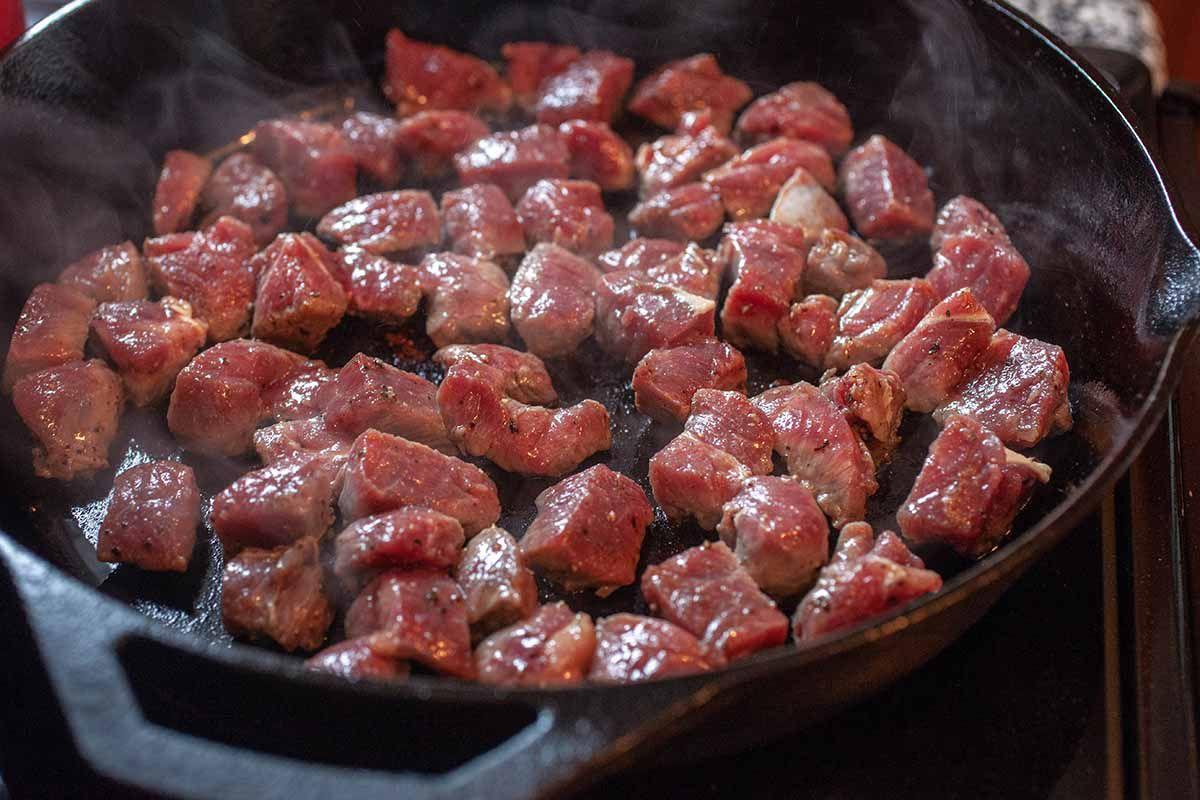 Beef Cube Recipe cook the steak bites