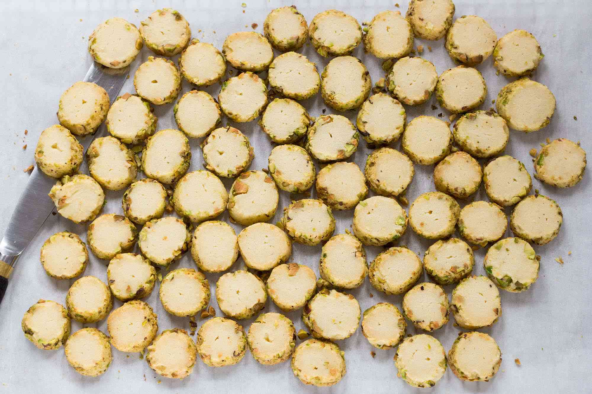 Slice and Bake Pistachio Butter Cookies