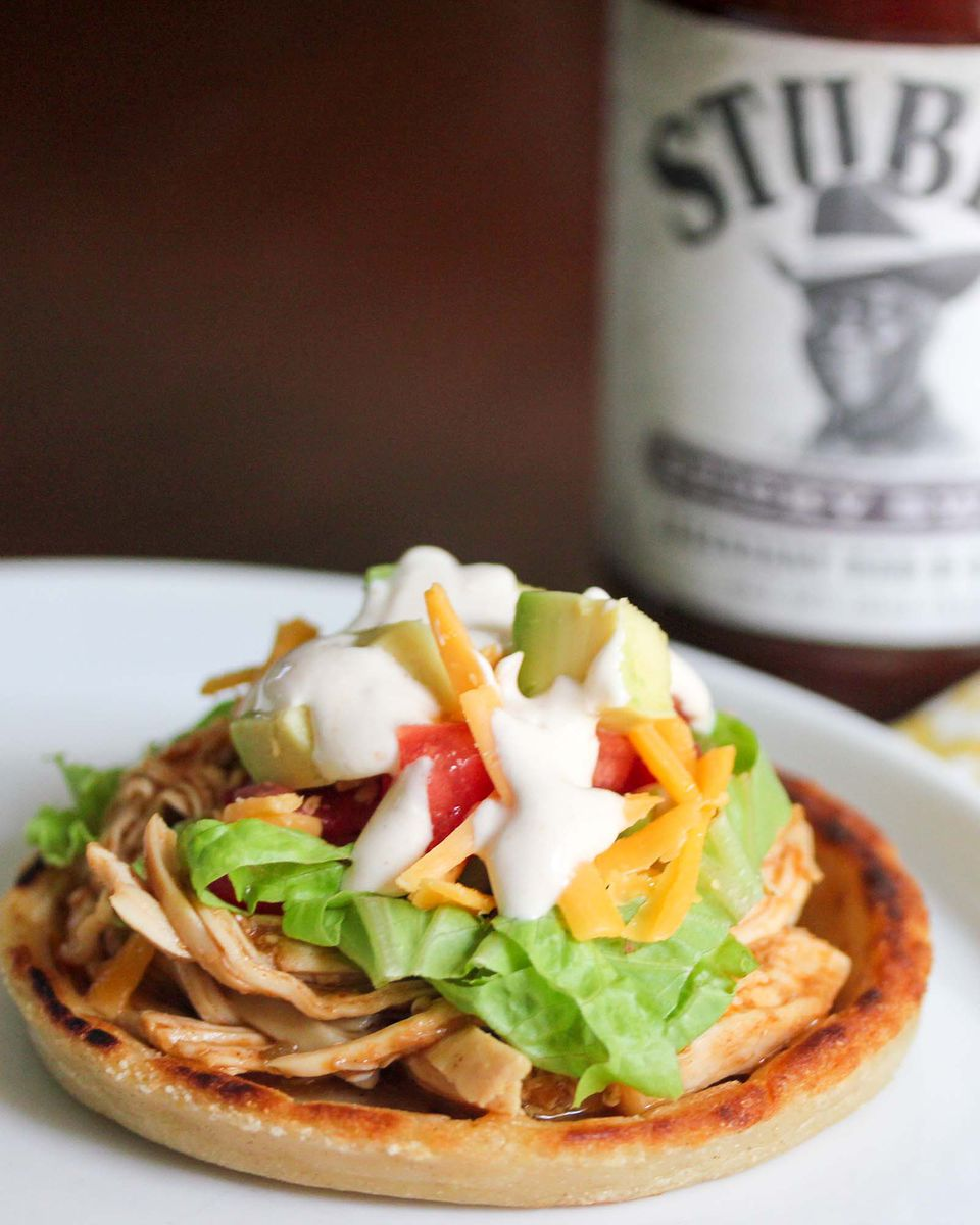 BBQ Pulled Chicken Sopes