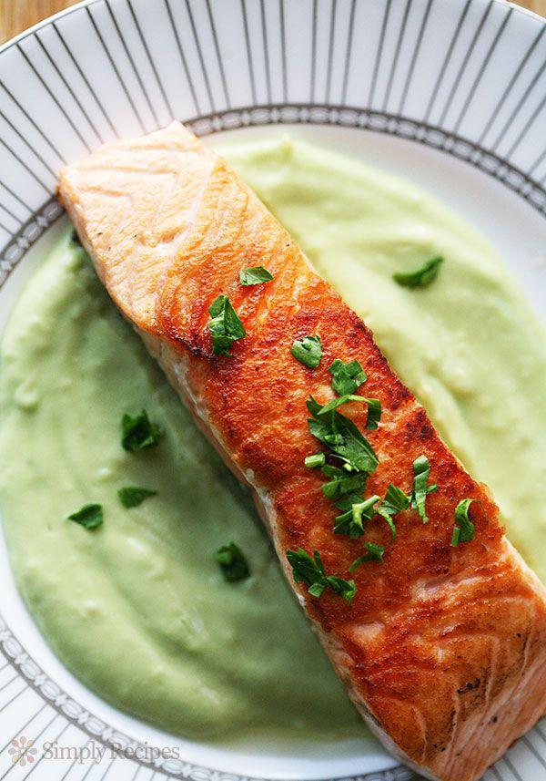 Pan Seared Salmon Avocado Remoulade