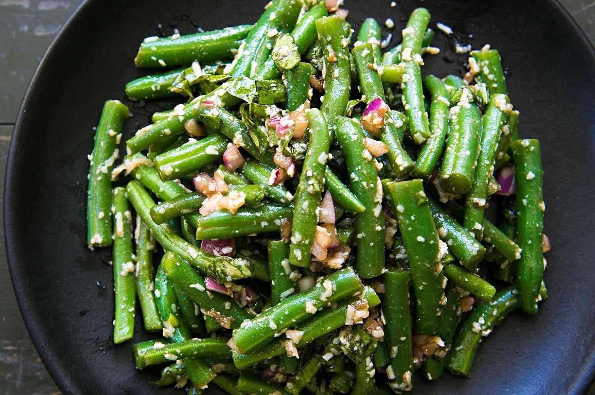 Green Bean Salad with Basil and Parmesan