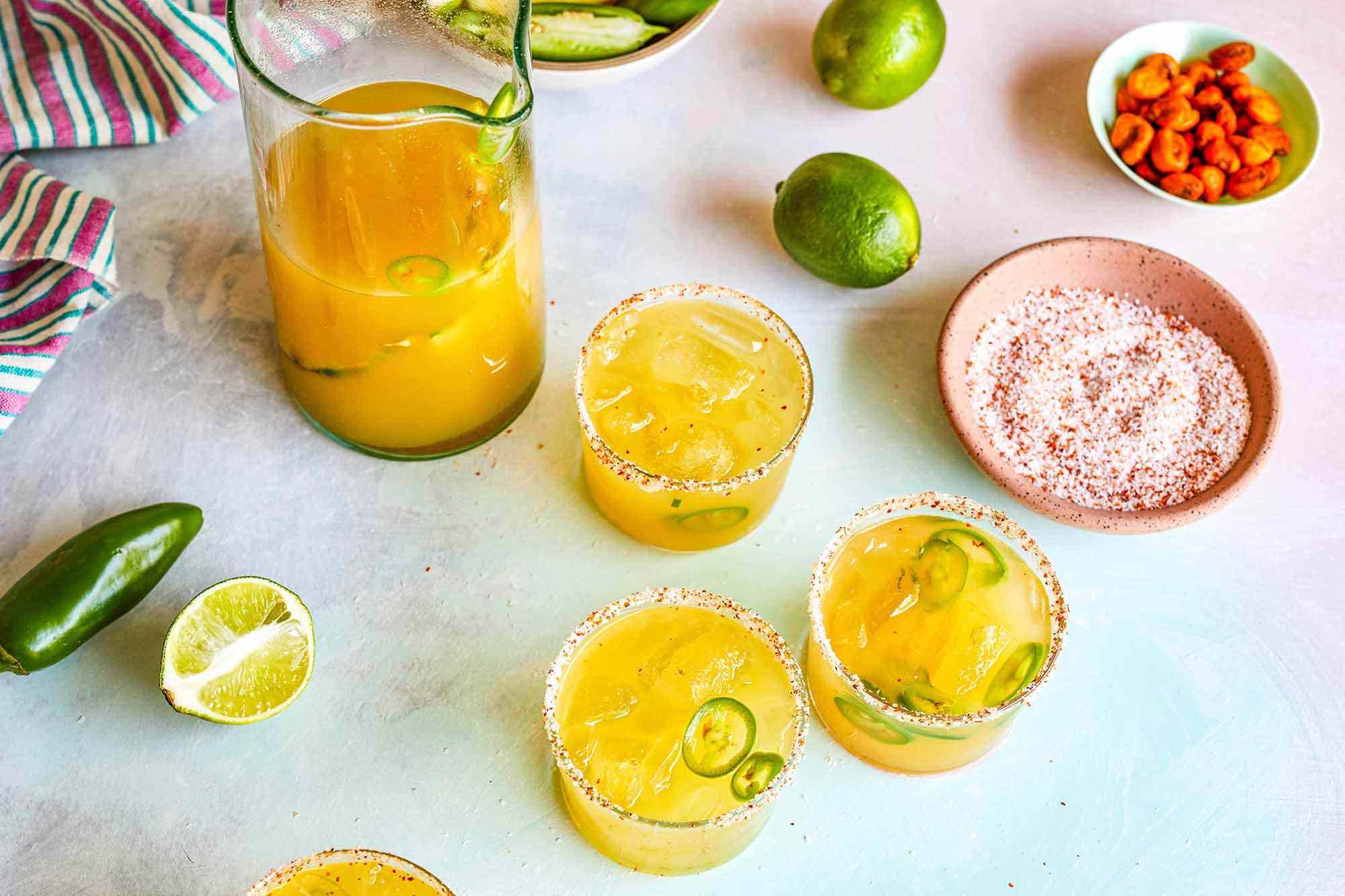Pineapple Margaritas for a Crowd make the margarita