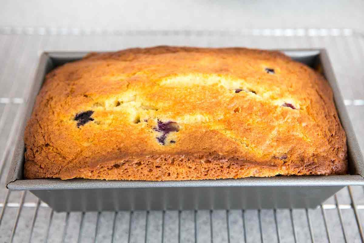 Bake Lemon Blueberry Ricotta Pound Cake