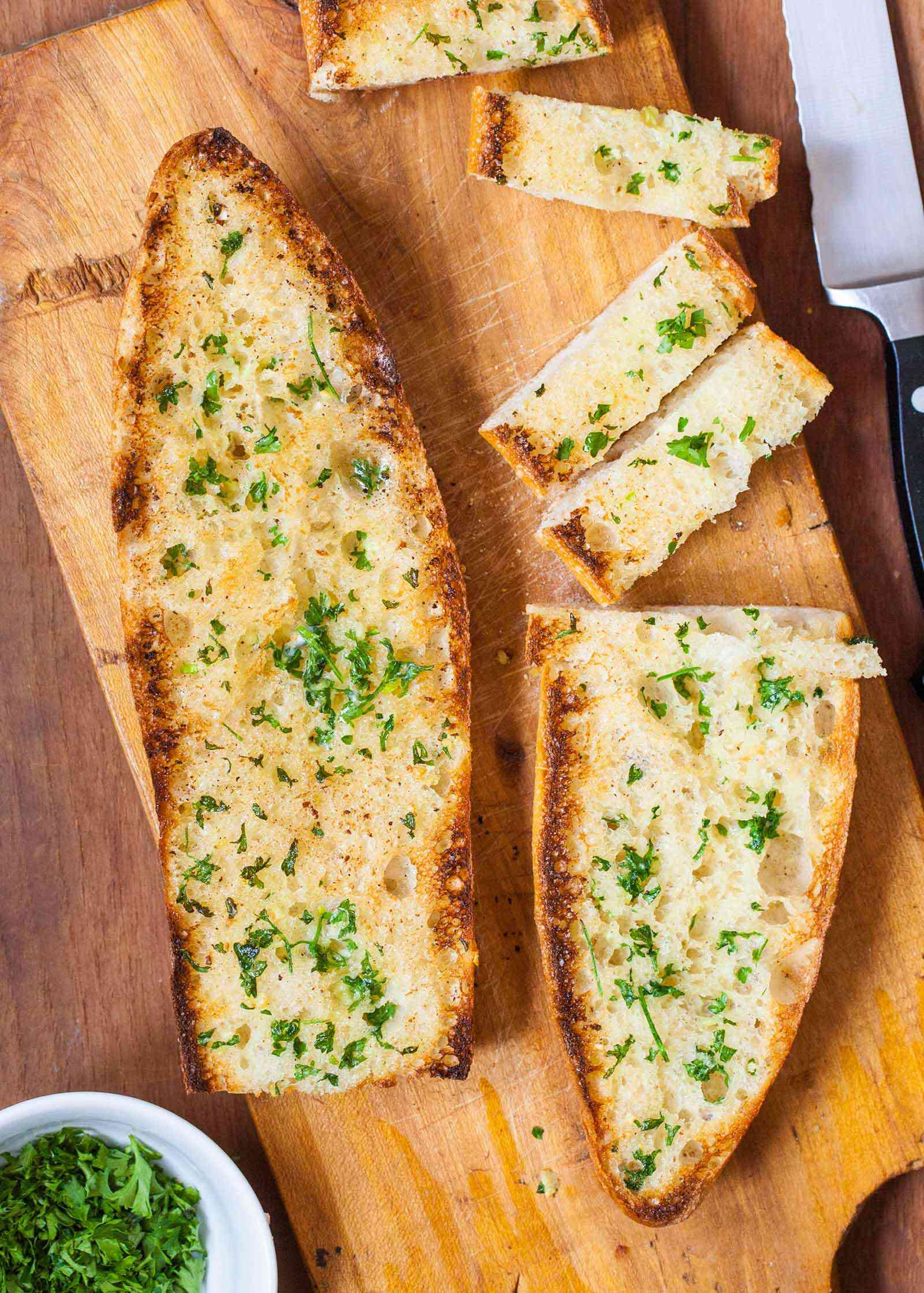 How to Make Garlic Bread - soft or crispy