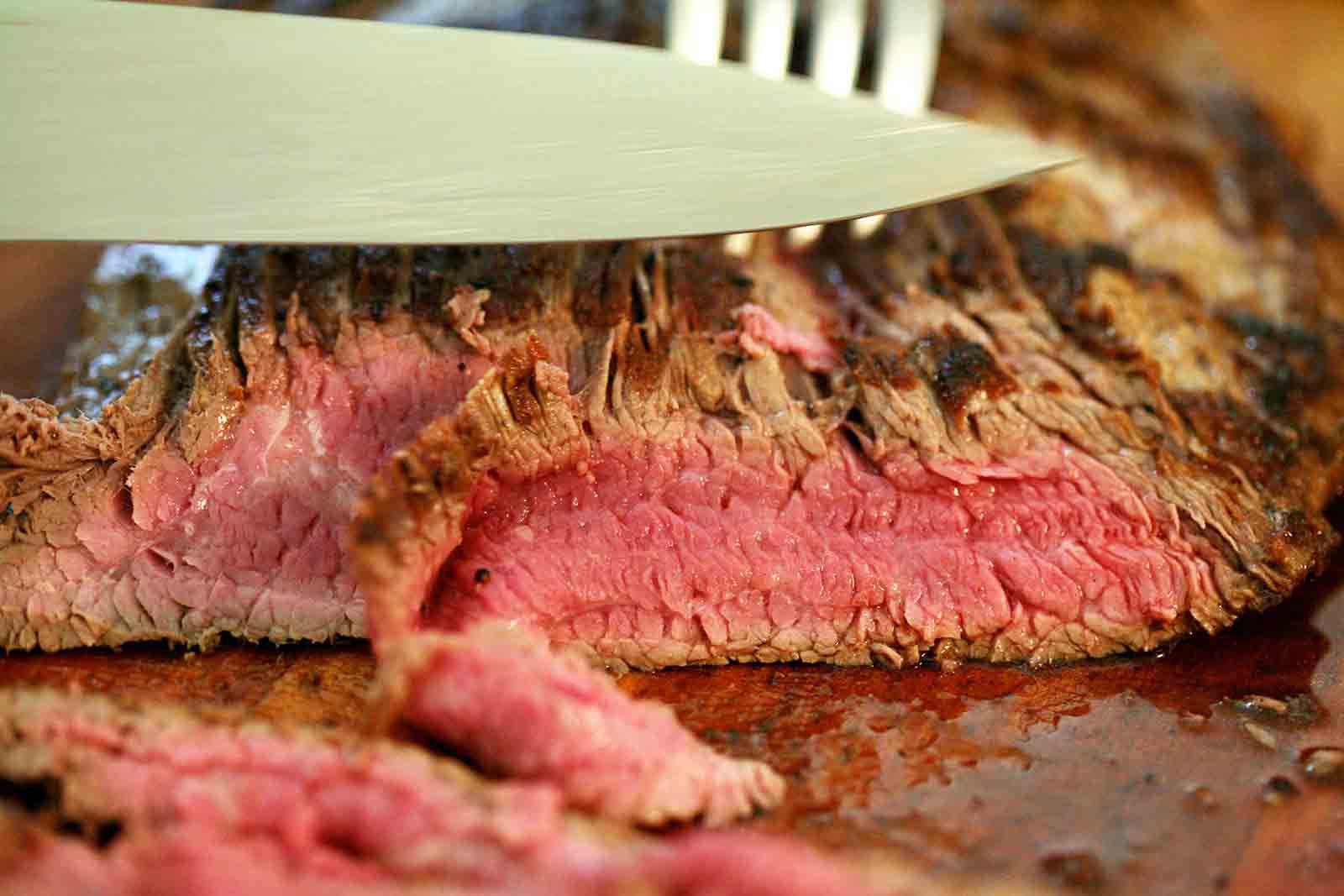 slicing flank steak