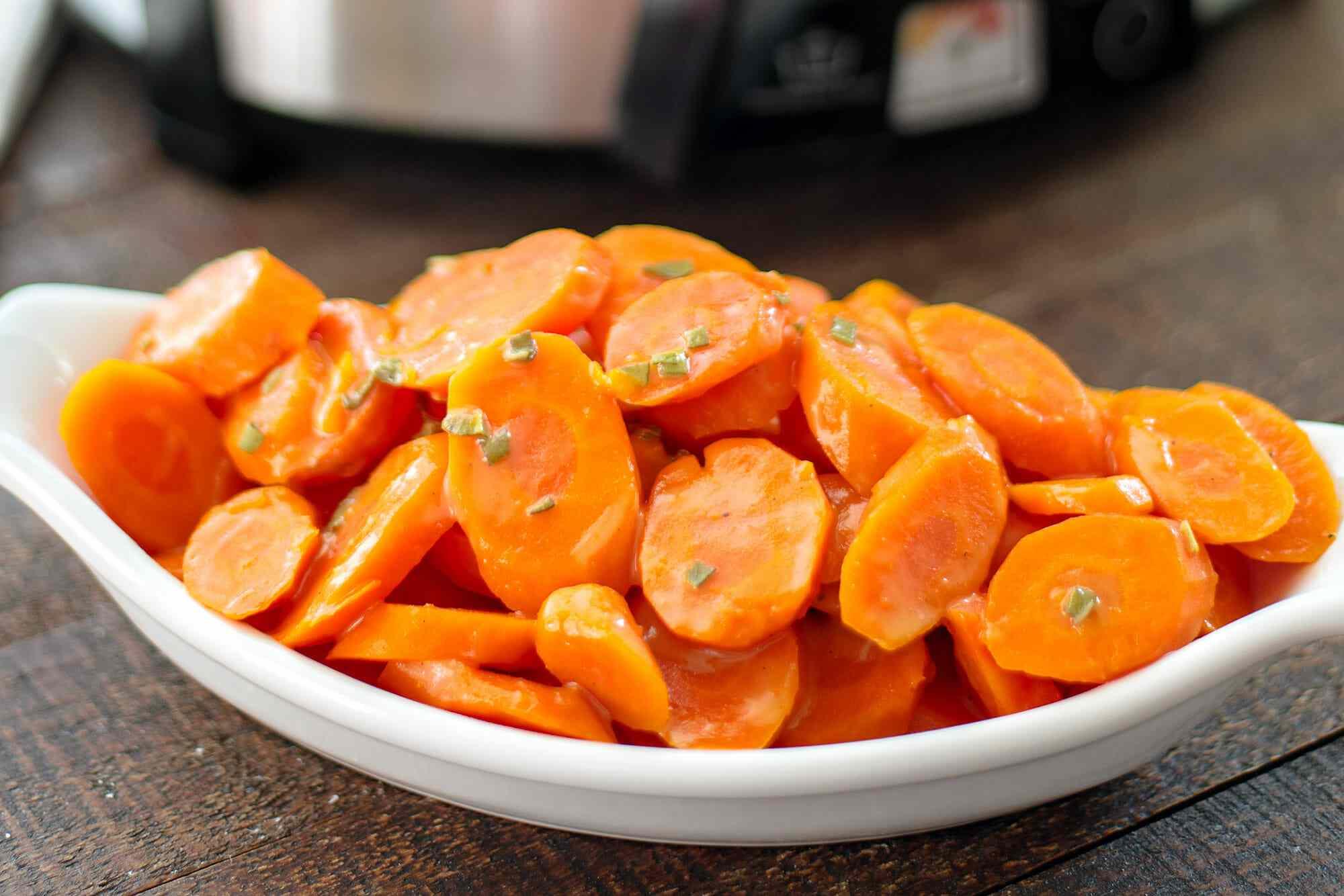 Honey Glazed Carrots Recipe serve the carrots