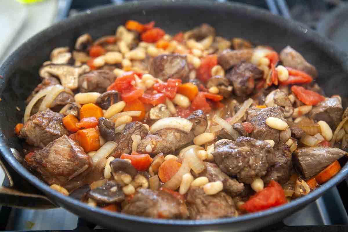 quick beef stew add beans