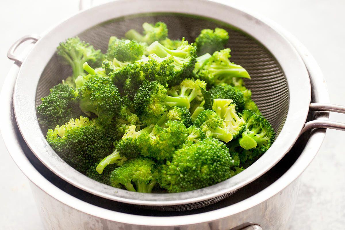 Cheddar Quesadillas with Broccoli blanch and chop the broccoli