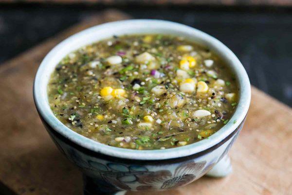 Grilled Tomatillo Corn Salsa