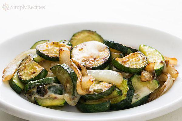 Sauteed Zucchini with Gruyere