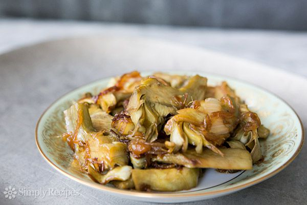 Artichoke Hearts with Caramelized Onions
