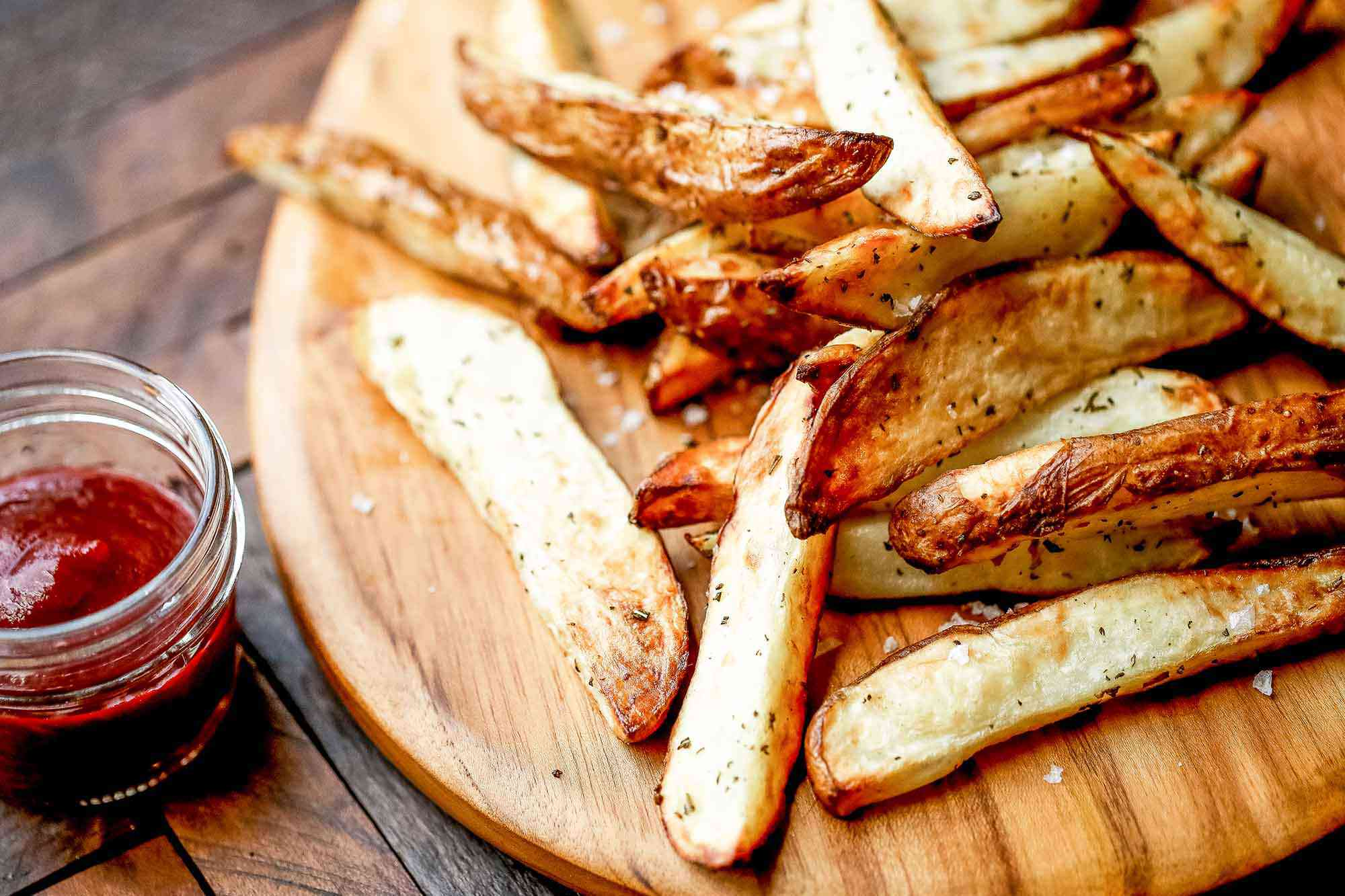 Air Fried French Fries Recipe serve the fries