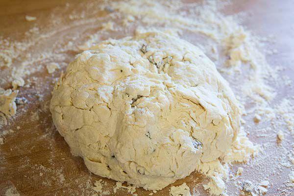 form a shaggy mound of dough for irish soda bread