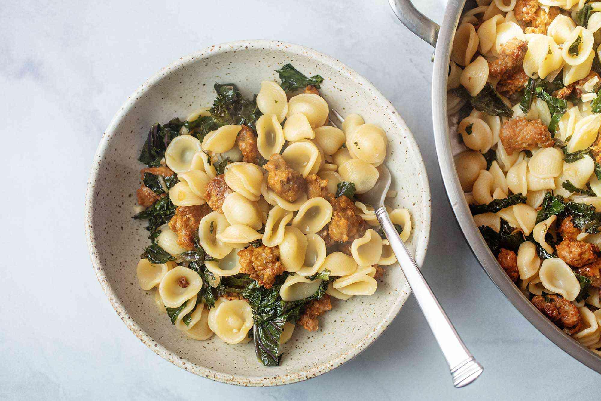 Orecchiette Pasta with Sausage and Kale recipe