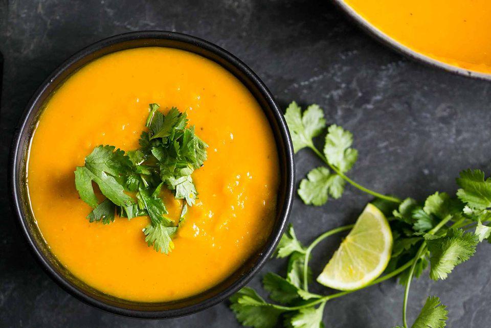 Roasted Kabocha Squash Soup