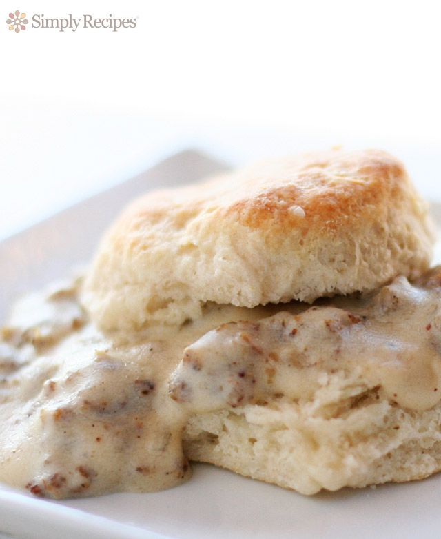 Biscuits and Gravy - Buttermilk Biscuit Covered in Sausage Gravy