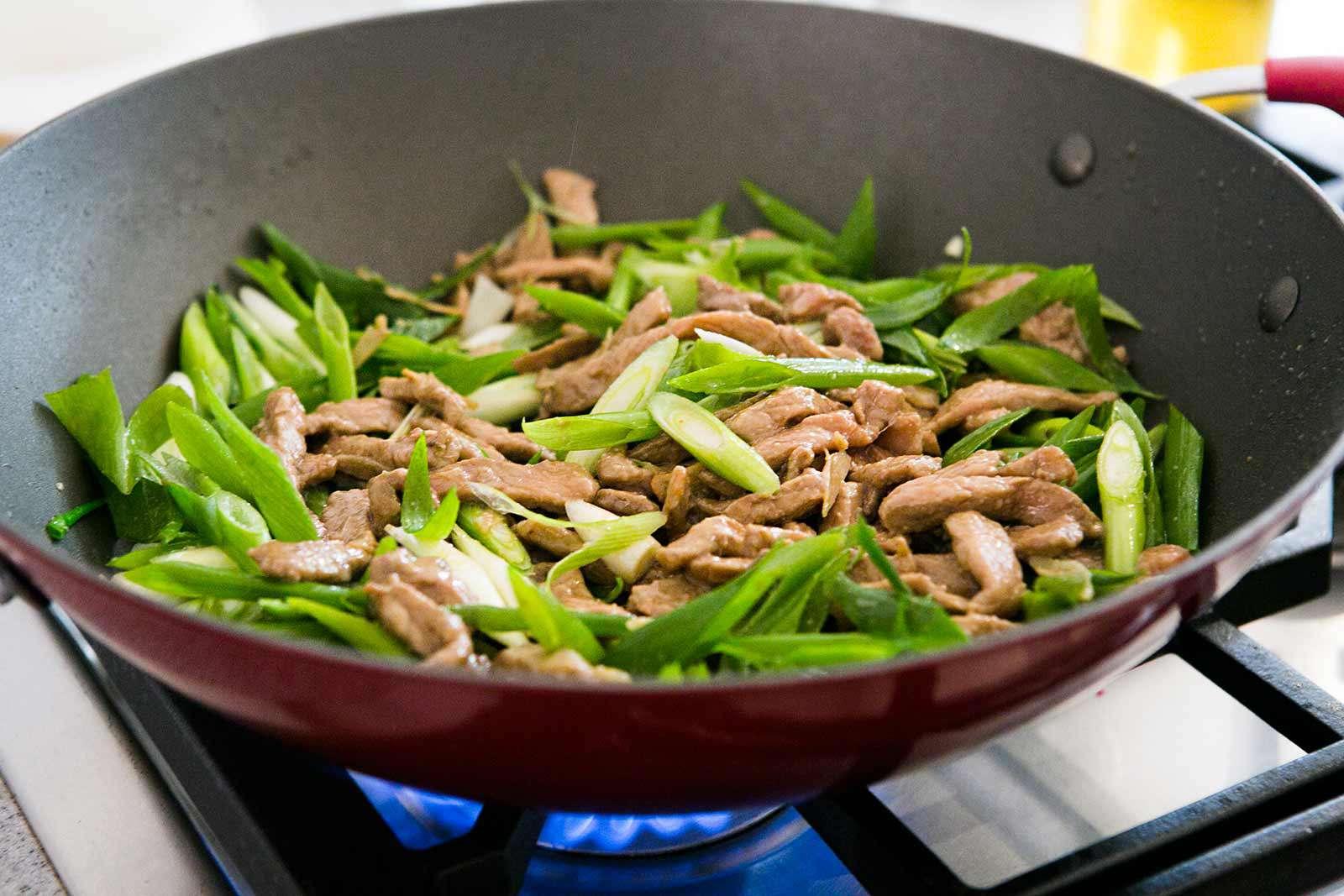 Pork Stir Fry with Green Onions