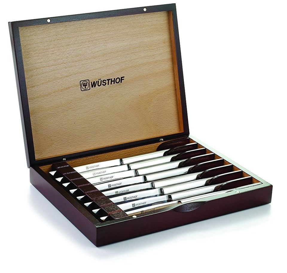 Wusthof 8pcsteak 8-Piece Stainless-Steel Steak Knife Set with Wooden Gift Box