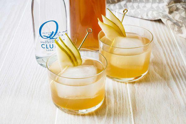 pear ginger shrub drink