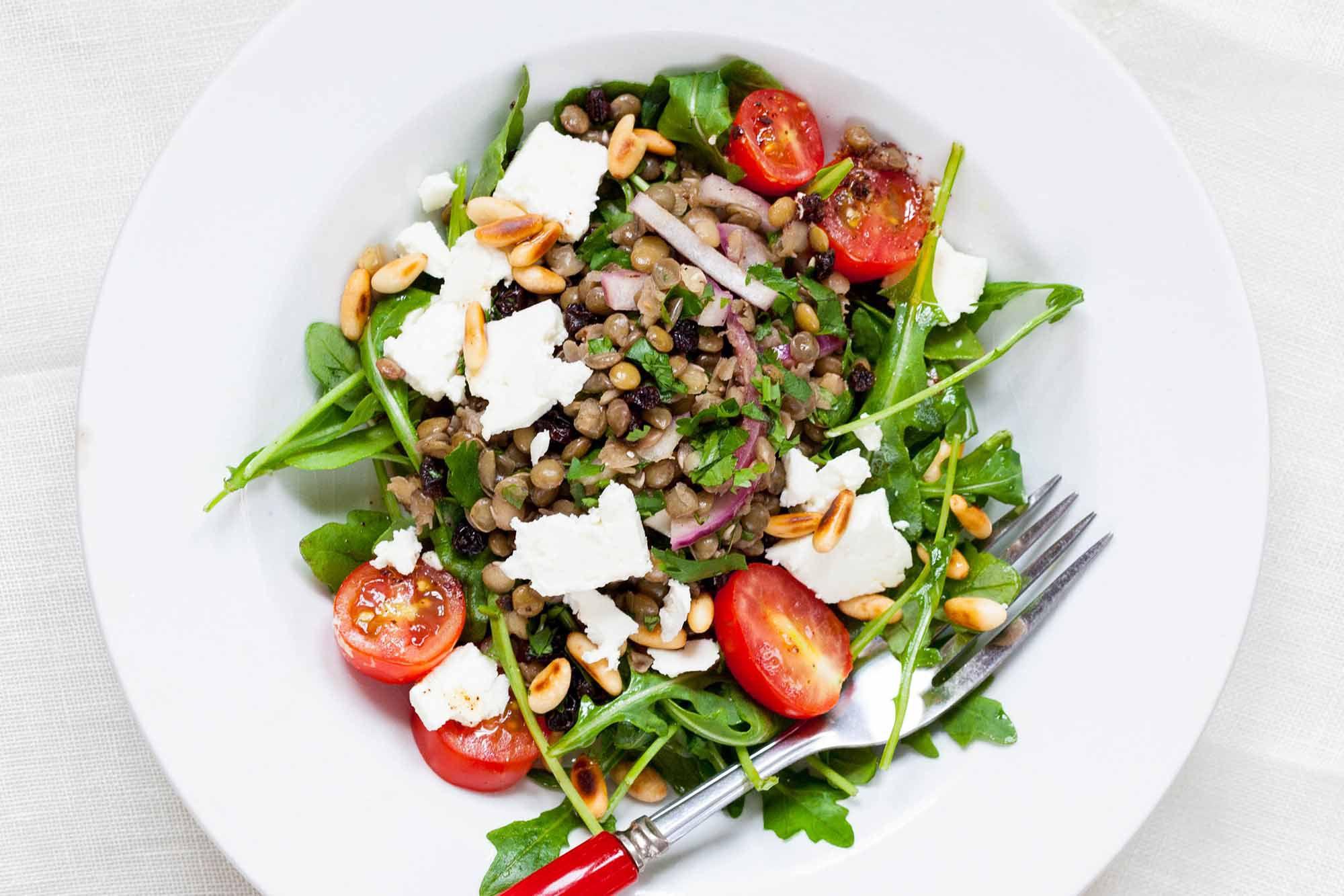 Lentil Salad with Arugula and Feta