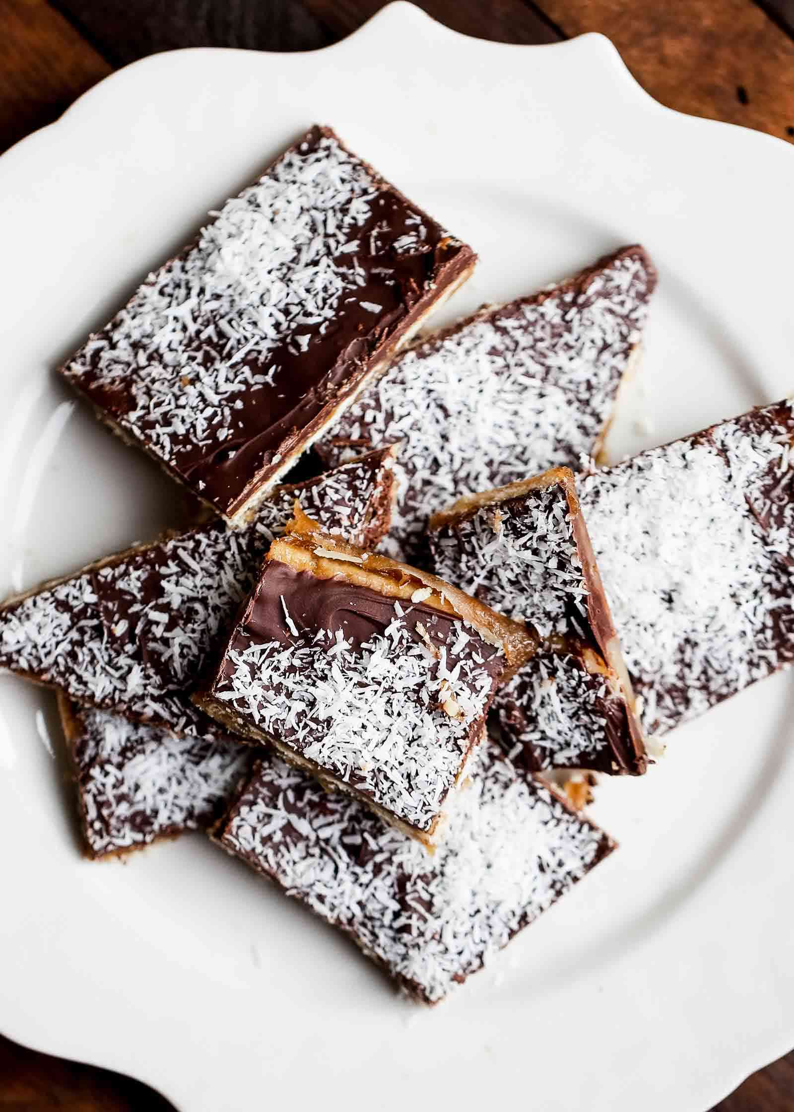 Coconut-Topped Christmas Crack