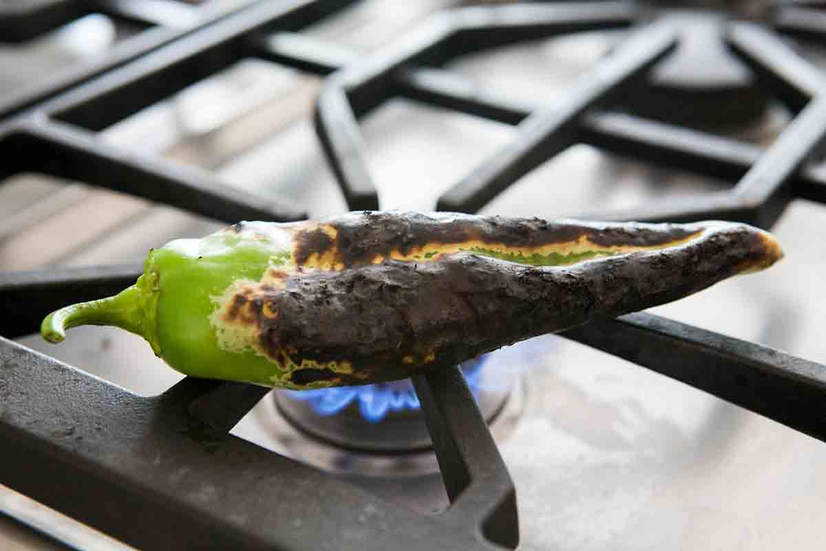 how to fire roast green chiles