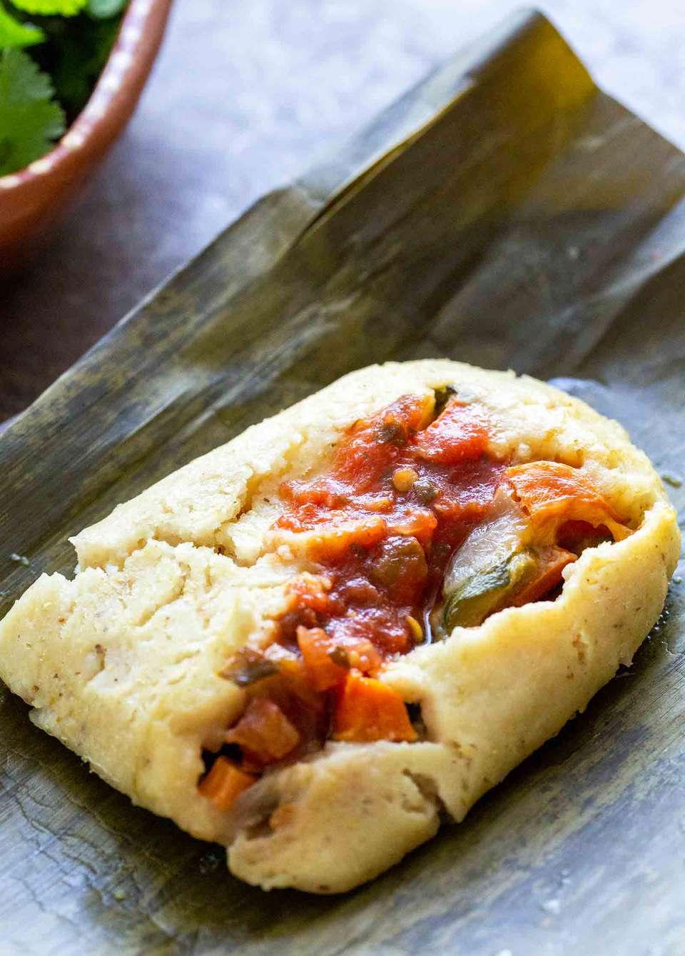 Banana Leaf Vegetarian Tamales