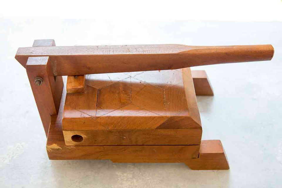 wood tortilla press for making tortillas