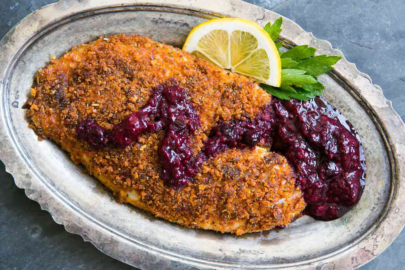 Baked Tilapia with Sun-Dried Tomatoes and Parmesan