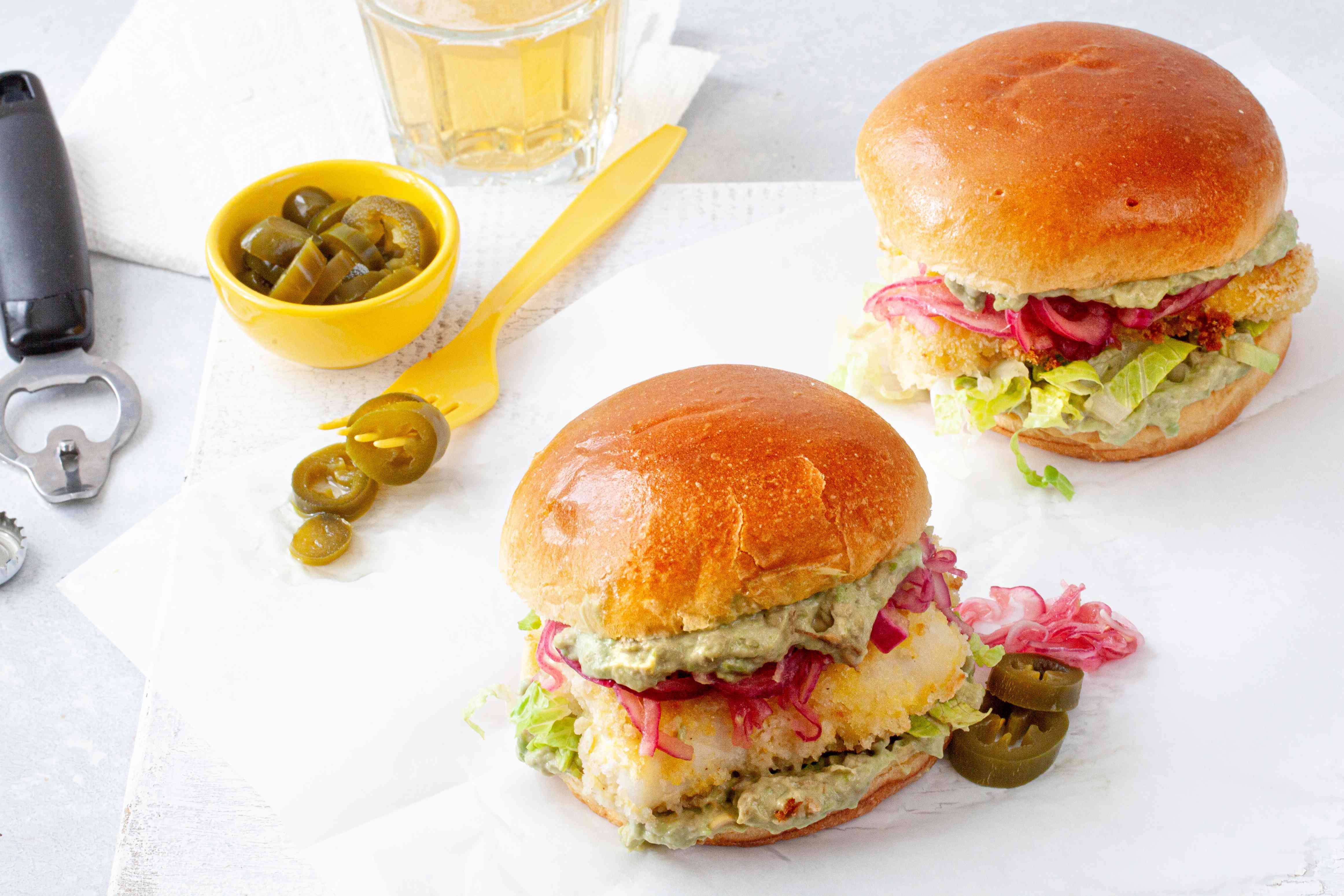 Crispy Oven Baked Fish Sandwiches