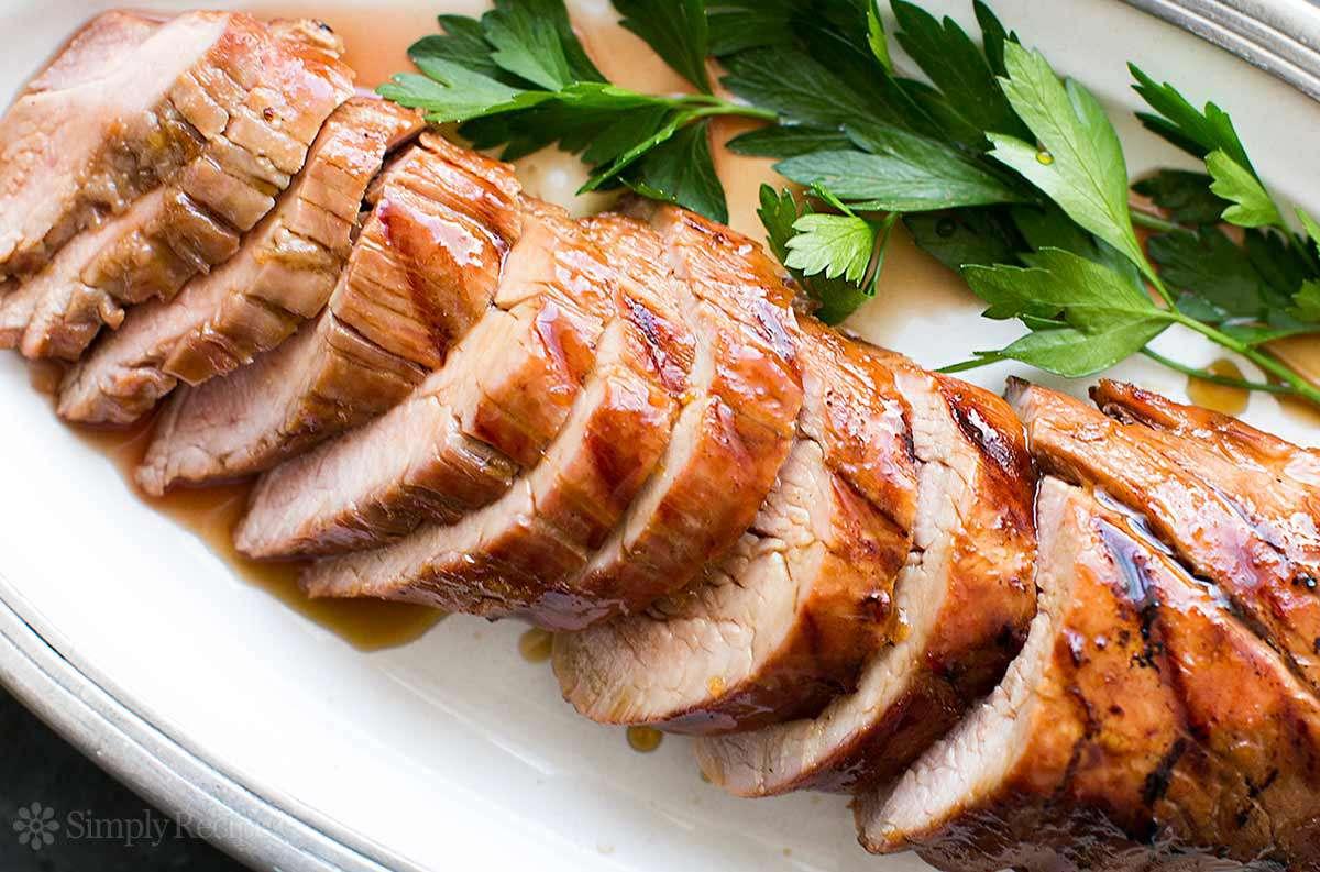 Grilled Pork Tenderloin with Orange Marmalade Glaze