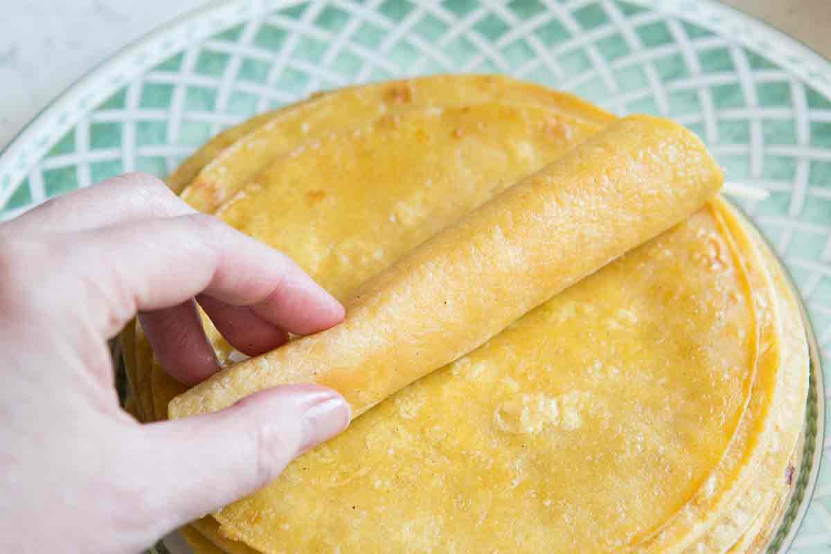 roll up tortillas for enchiladas recipe