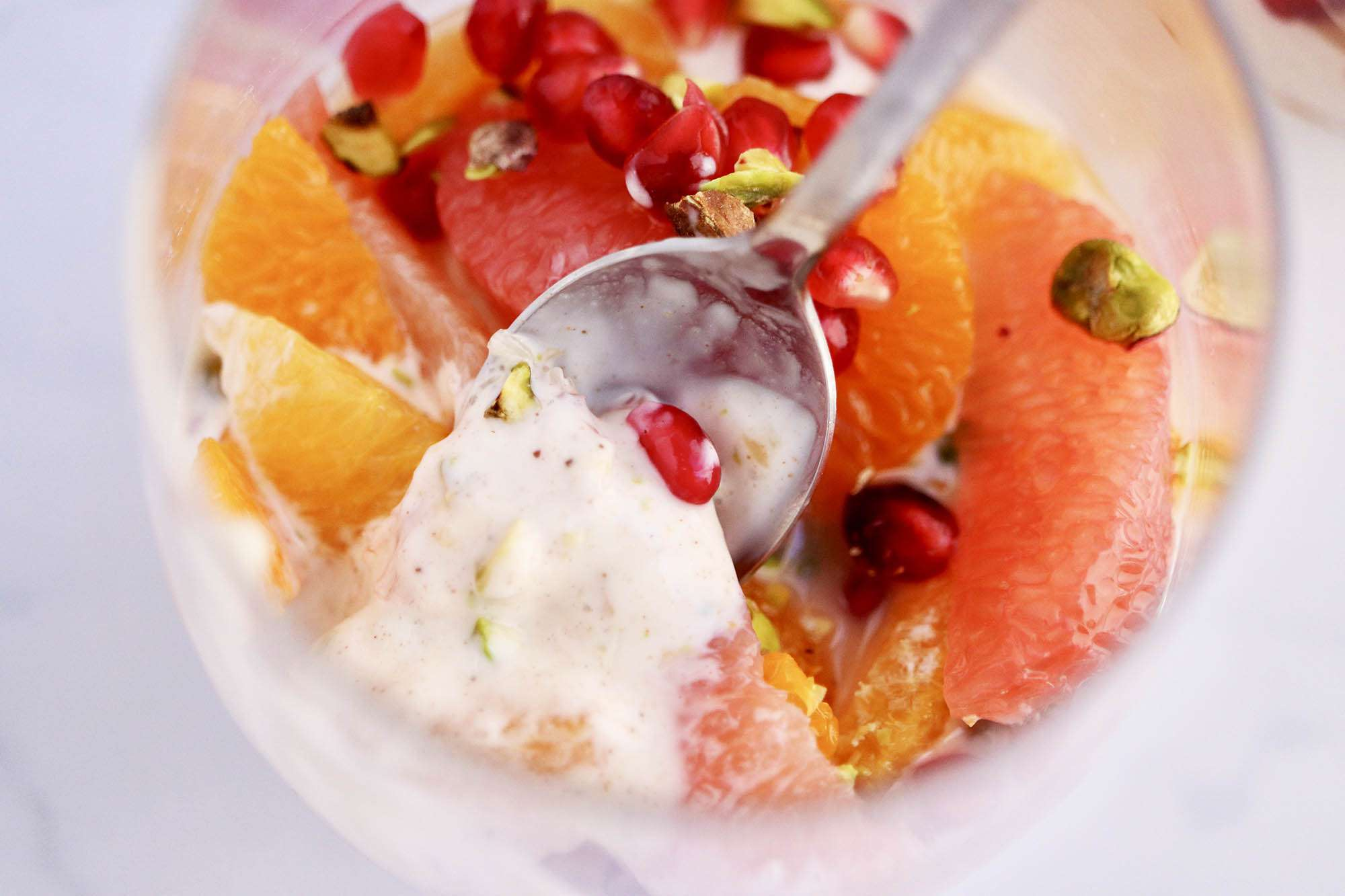 Citrus Parfaits with Grapefruit, Orange and Clementine