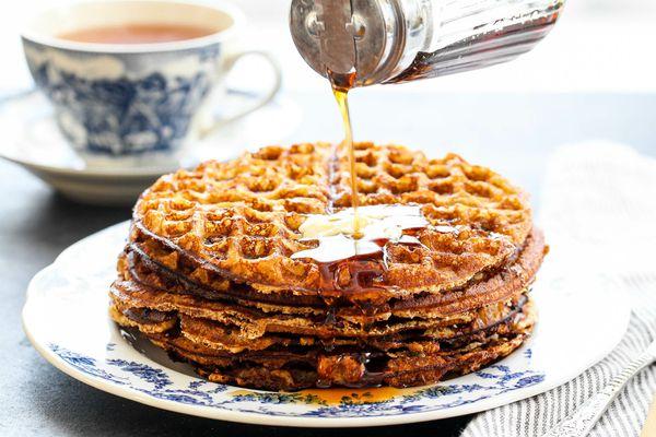 Crispy Gluten-Free Almond Flour Waffles