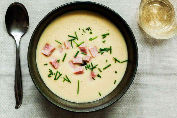 Potato Leek Ham Soup