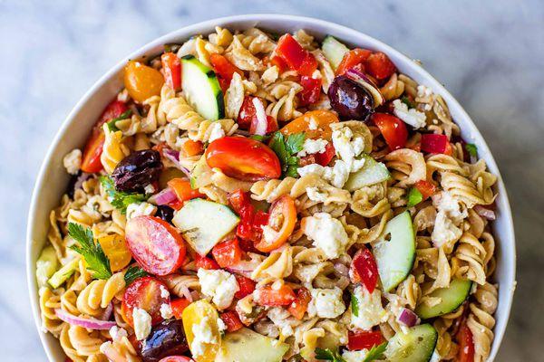 Gluten Free Greek Pasta Salad