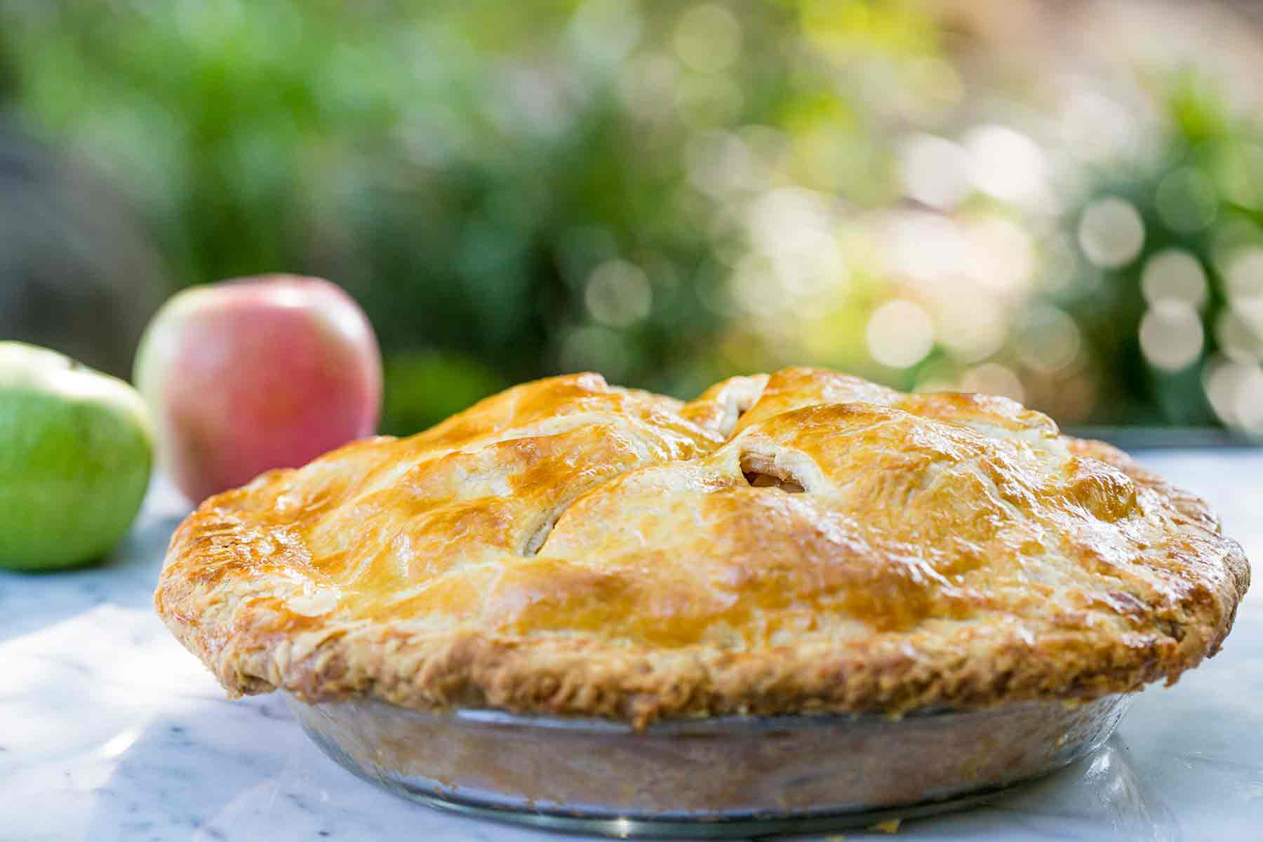 Homemade Apple Pie ready to be served