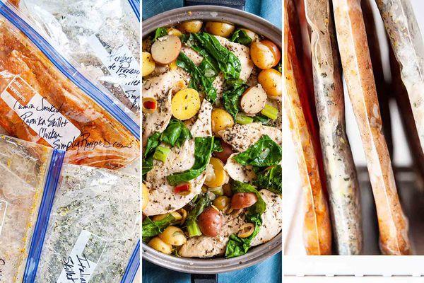 4 Skillet Chicken Freezer Meals