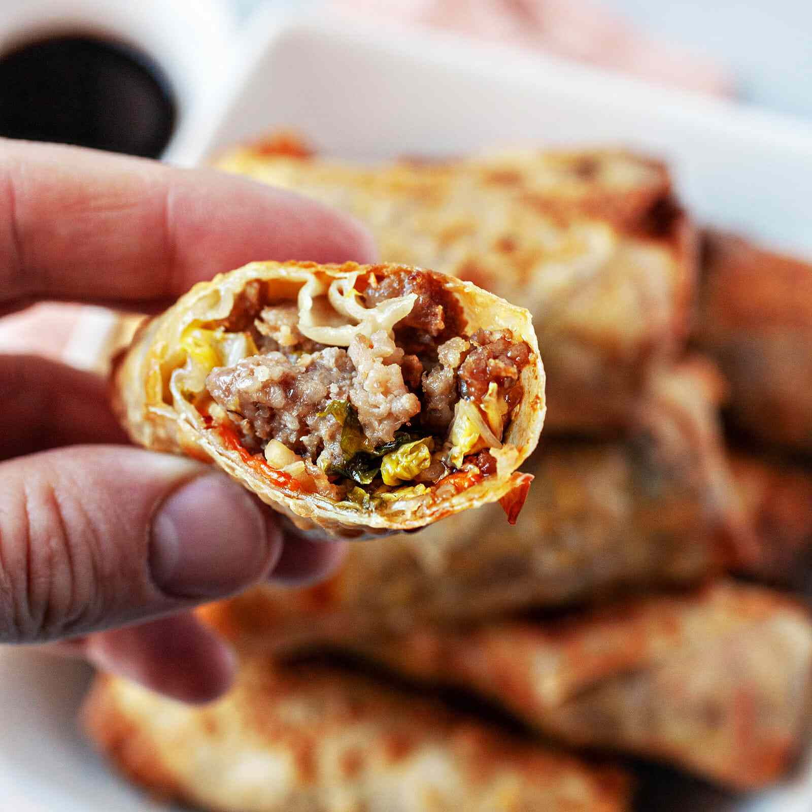 Air fryer egg rolls recipe