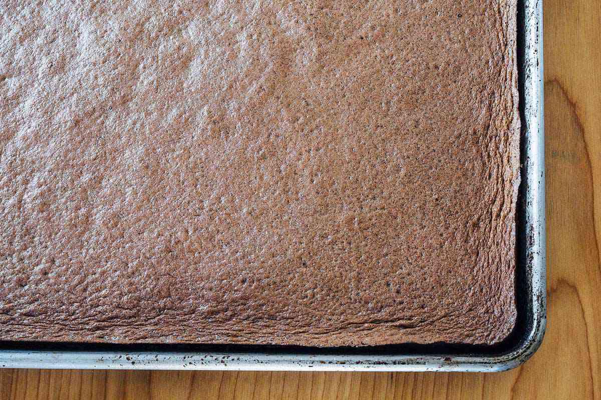 Chocolate Peppermint Swiss Roll