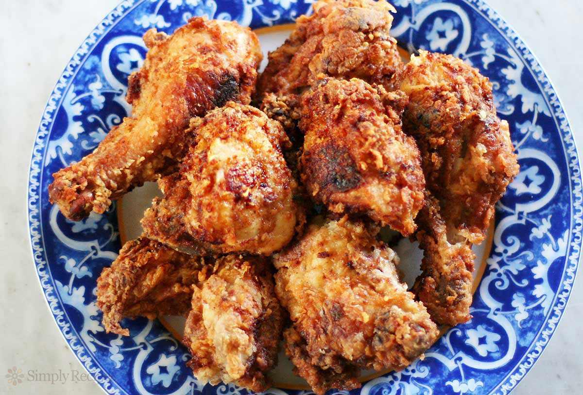 Plate of Homemade Buttermilk Fried Chicken