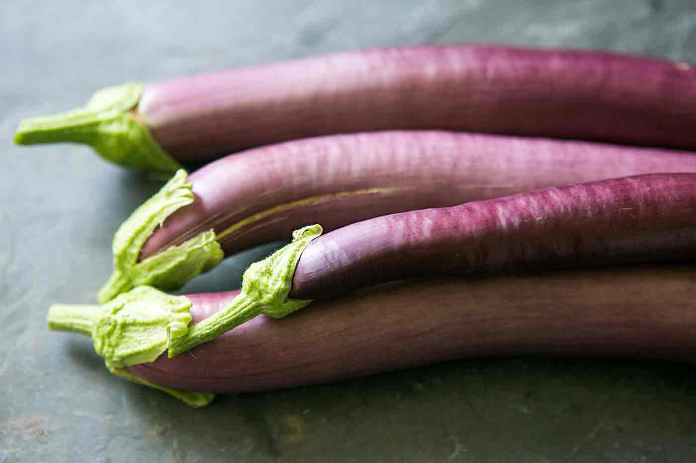Japanese Eggplant for making eggplant stir fry