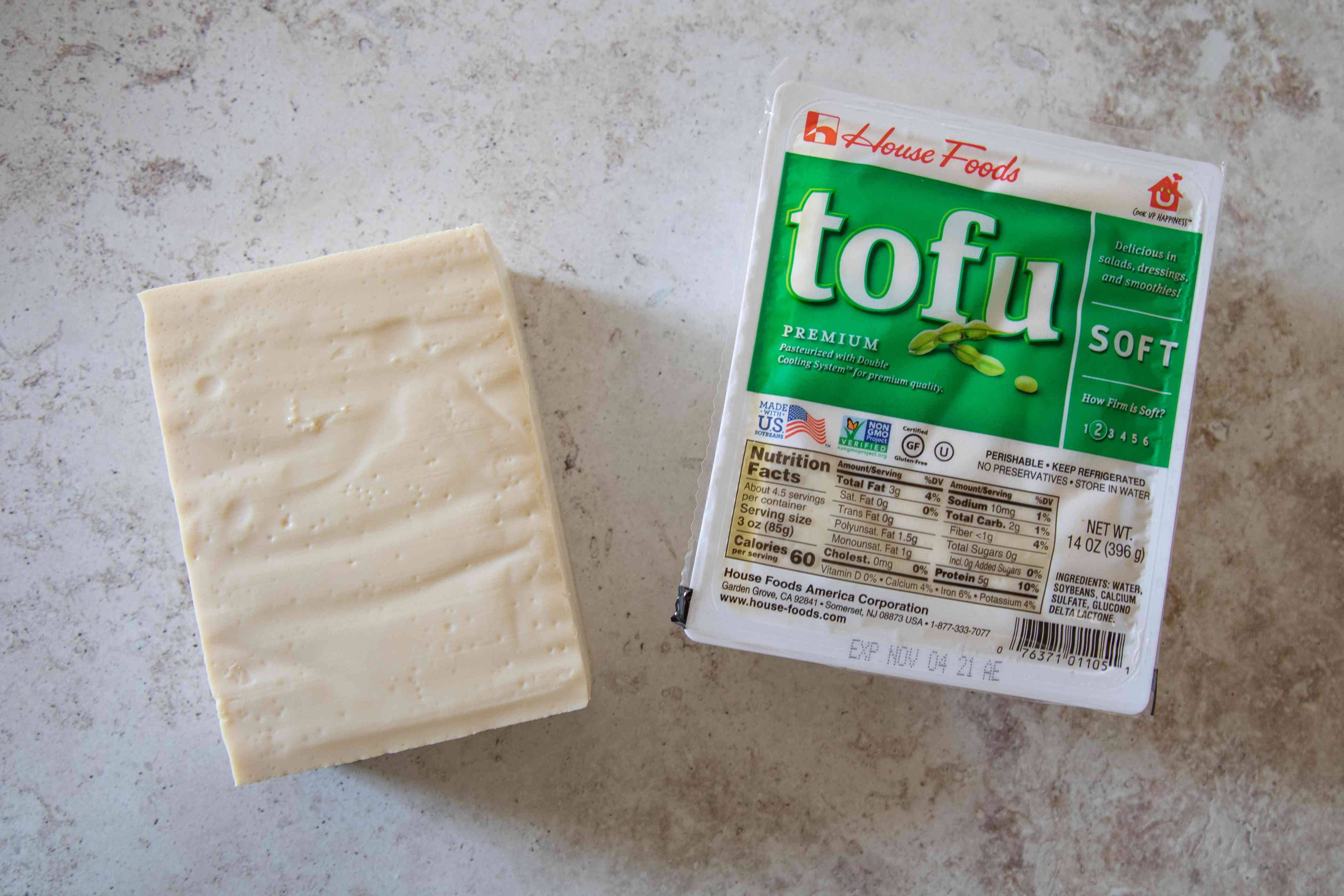 Package of soft tofu