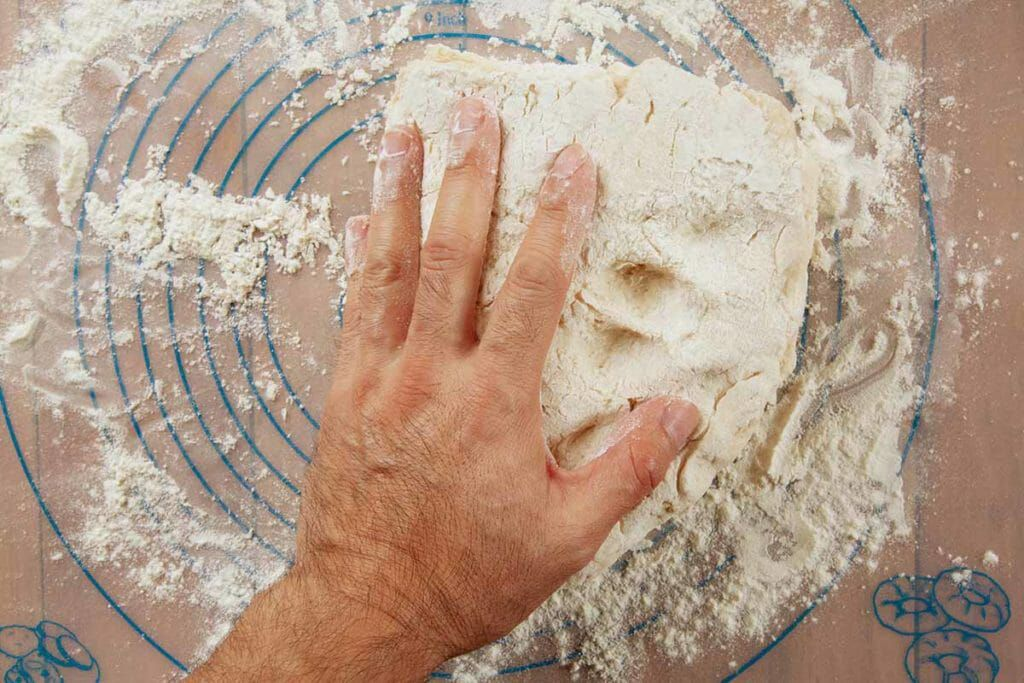 Fold over angel biscuit dough