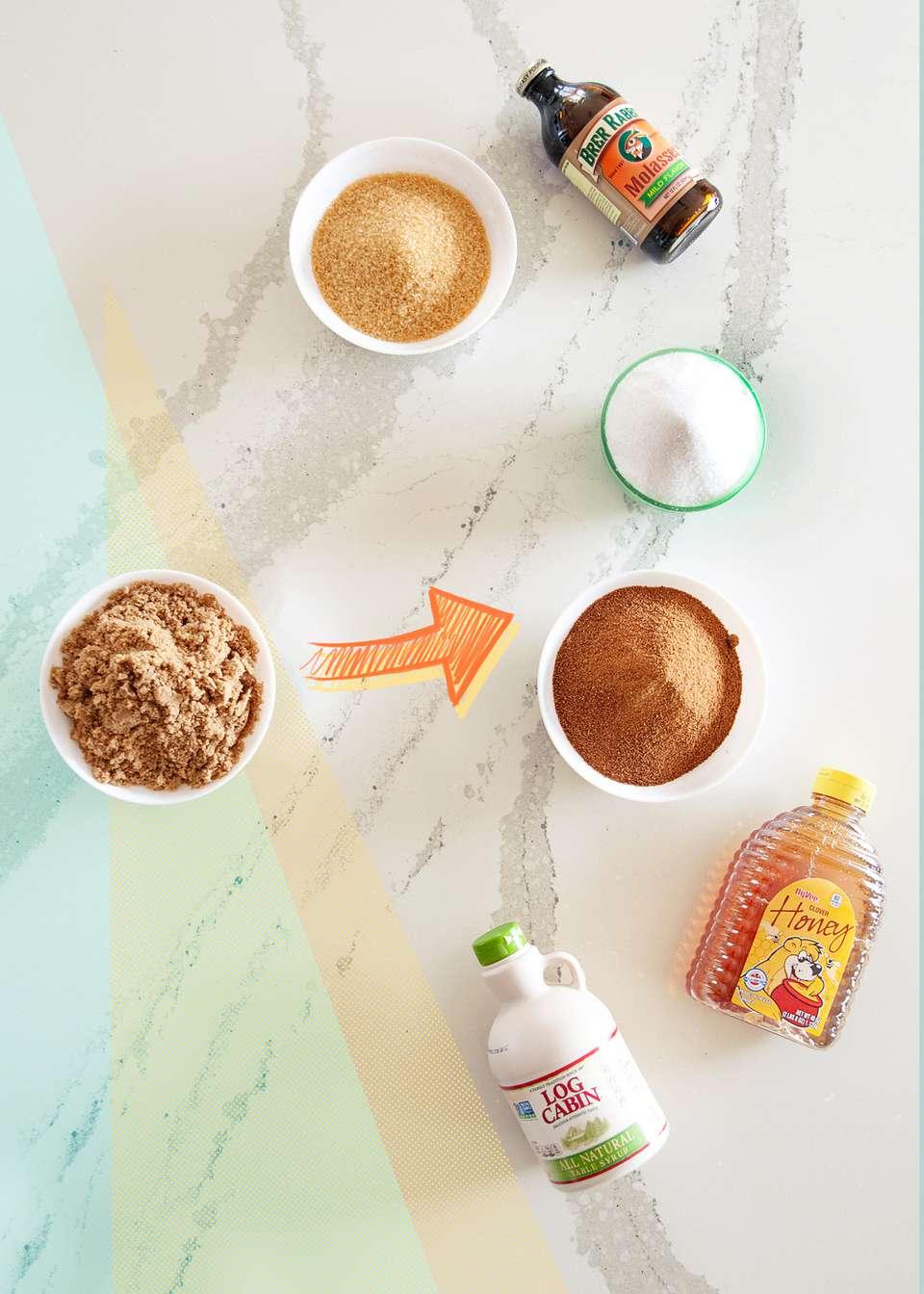 Brown sugar substitutes