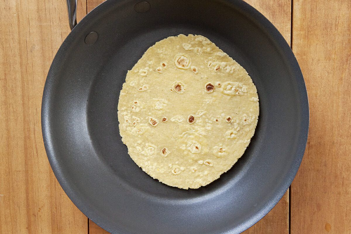 Breakfast Tacos recipe with Chorizo warm the tortillas